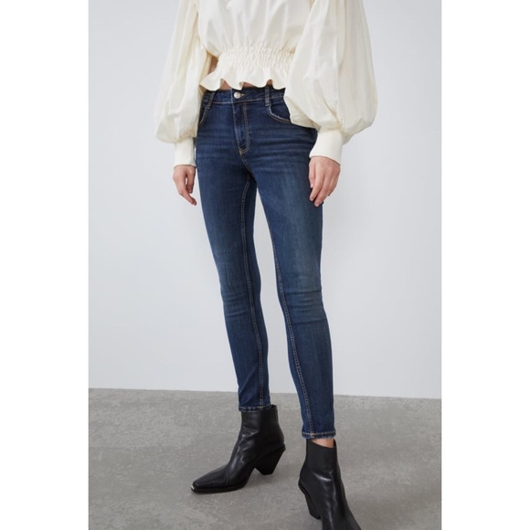 NWT Zara Mid Rise Sculpt Ankle Skinny Jeans